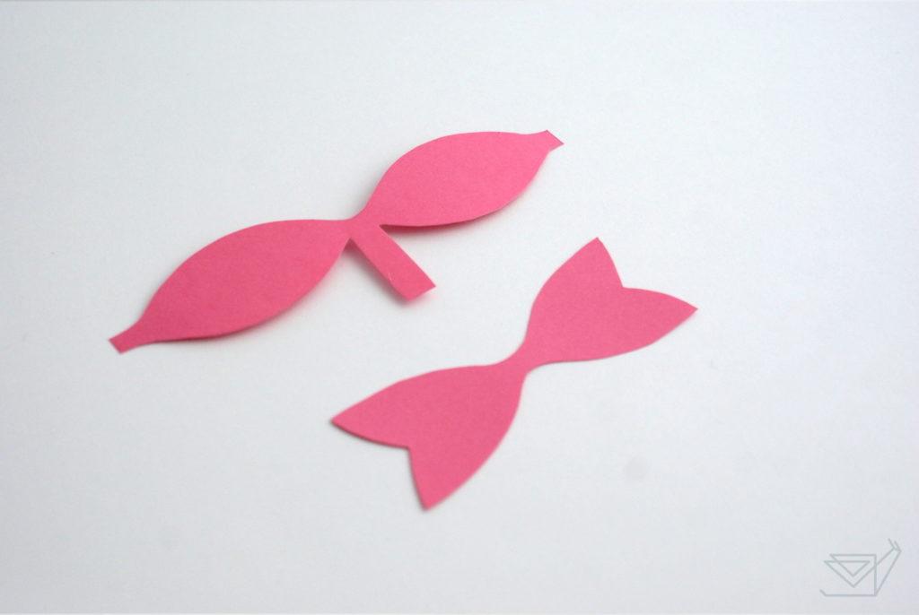 tutorial diy papierowa kokarda