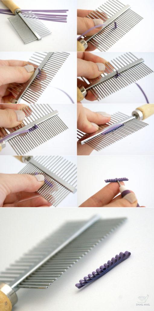tutorial diy jakz robić kokardkę na grzebieniu quilling