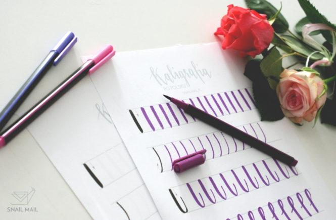 kaligrafia brush pen darmowe ćwiczenia szablon
