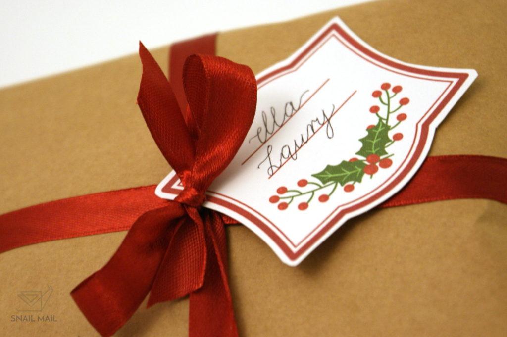 świąteczne bileciki prezentowe karneciki