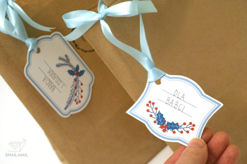 świąteczne bileciki prezentowe karneciki zrób to sam