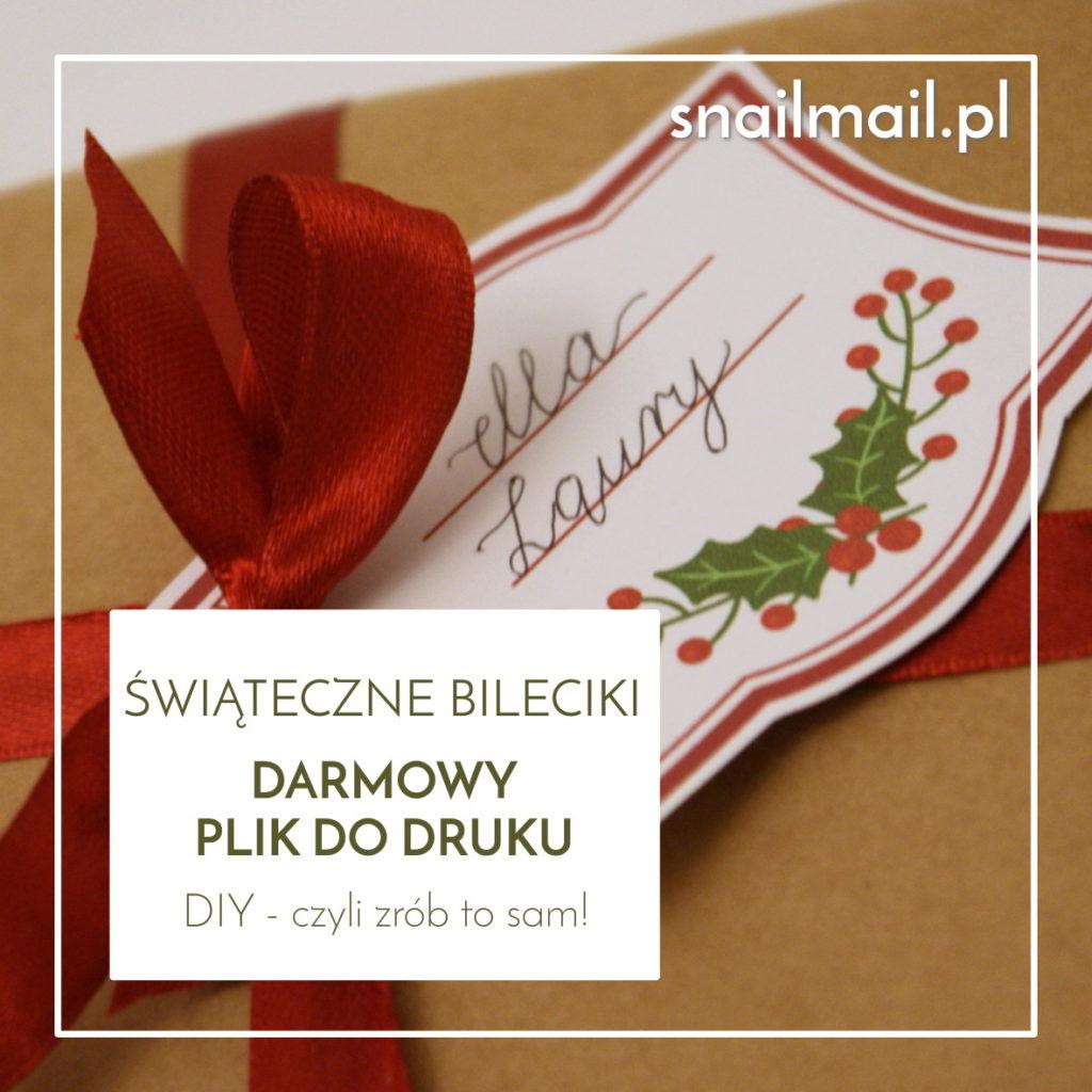 świąteczne bileciki prezentowe karneciki tutorial diy