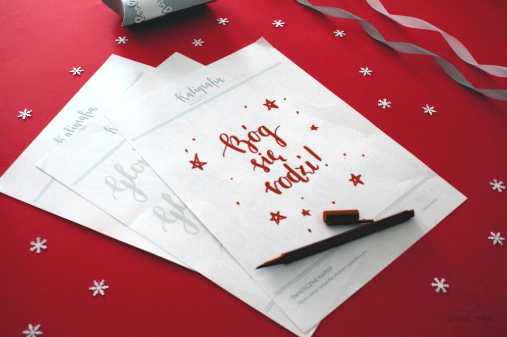 kaligrafia brush pen świąteczne napisy
