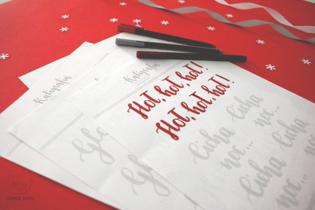 brush pen kaligrafia darmowe napisy na święta