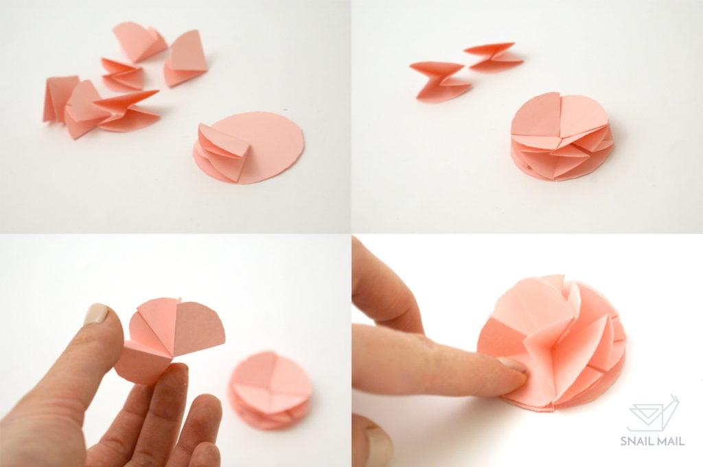 papierowa róża kurs tutorial