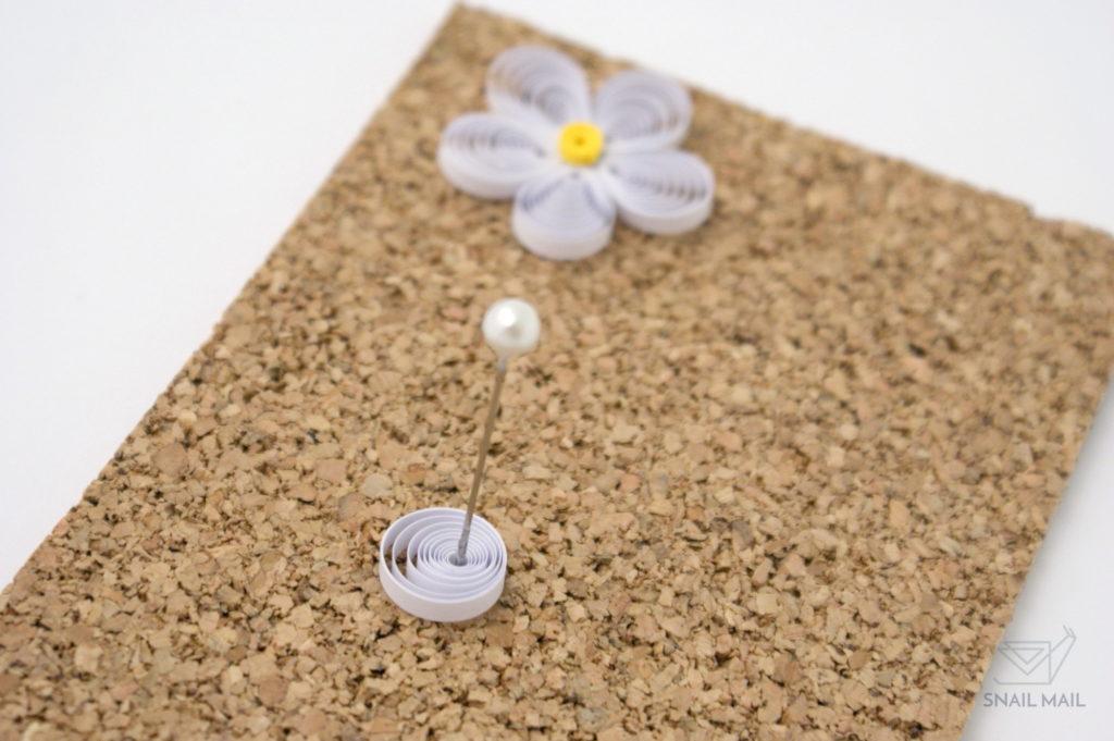 Zakręcony kwiatek quilling prosty tutorial