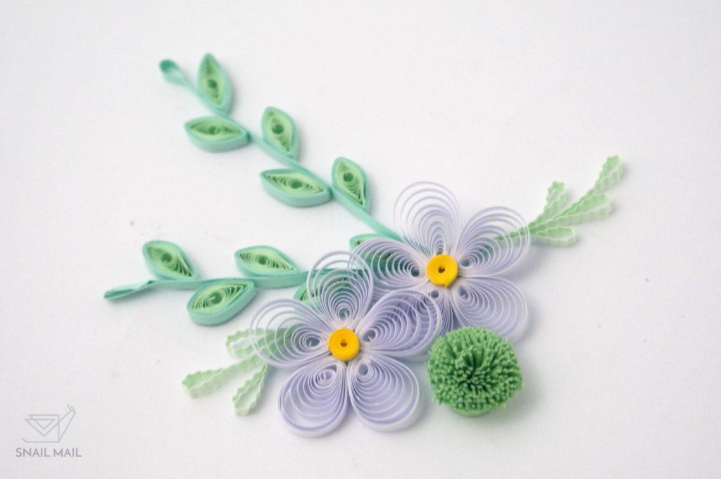 Zakręcony kwiatek quilling tutorial kurs diy