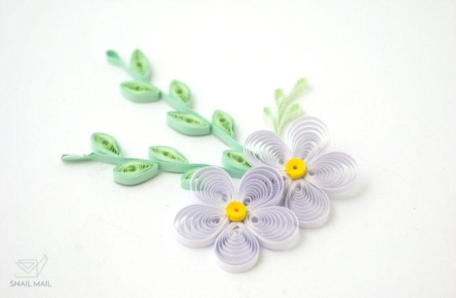 Zakręcony kwiatek quilling tutorial
