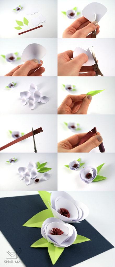 poradnik diy papierowe kwiaty wiosenne