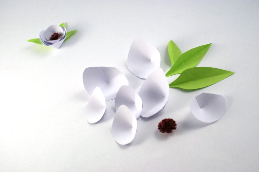 wiosenny kwiatek papierowy zrób to sam