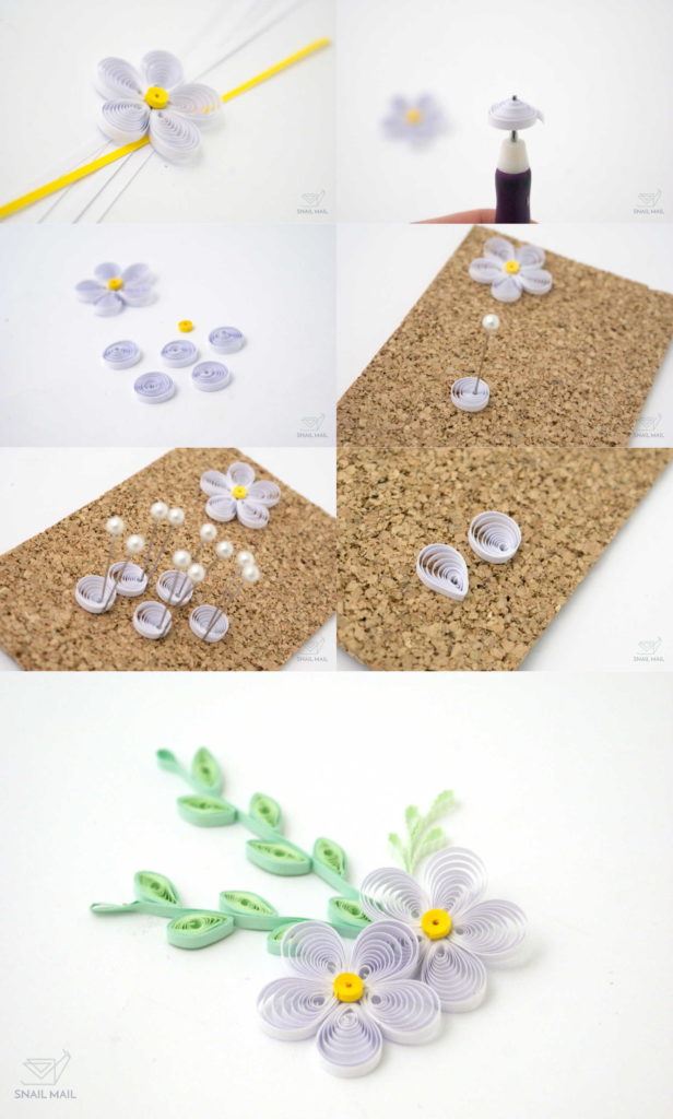tutorial kwiatki quilling flowers