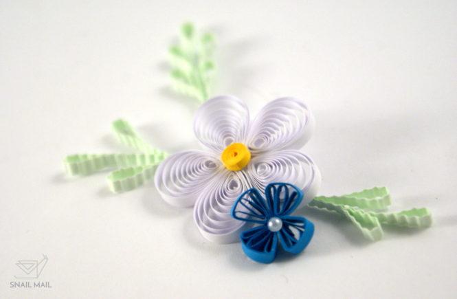 tutorial kwiatek husking quilling zrób to sam