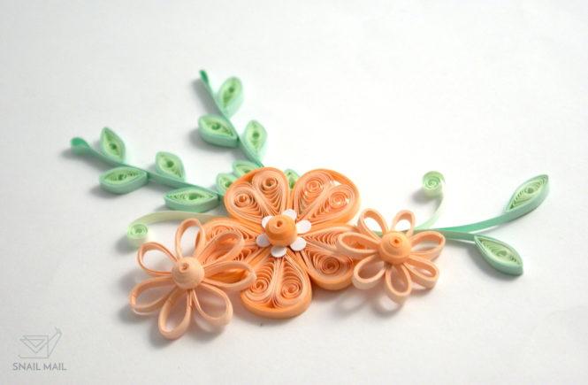 kwiatek quilling konturowy