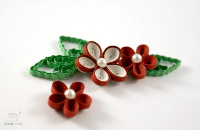 kwiatek quilling 3d jak zrobić