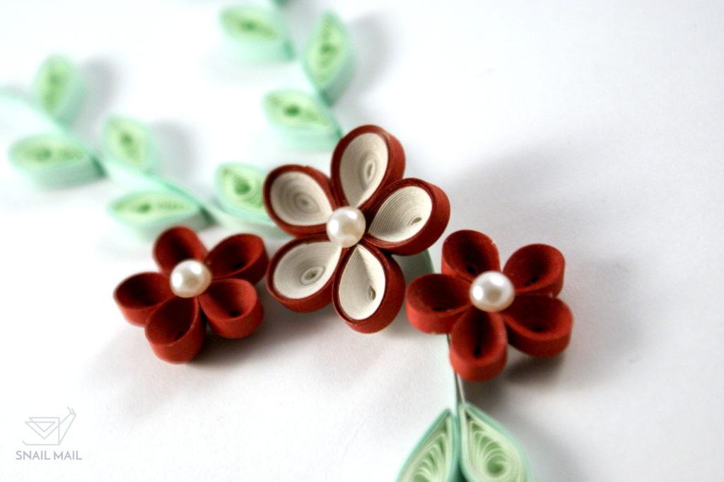 kwiatek quilling 3d