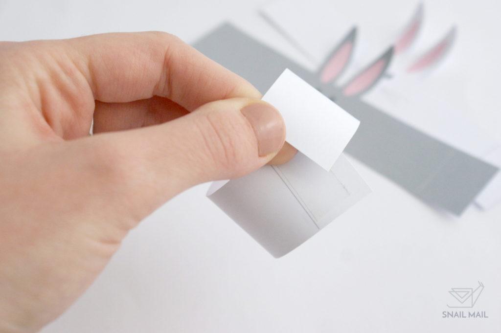 wielkanocny zajączek z papieru tutorial diy