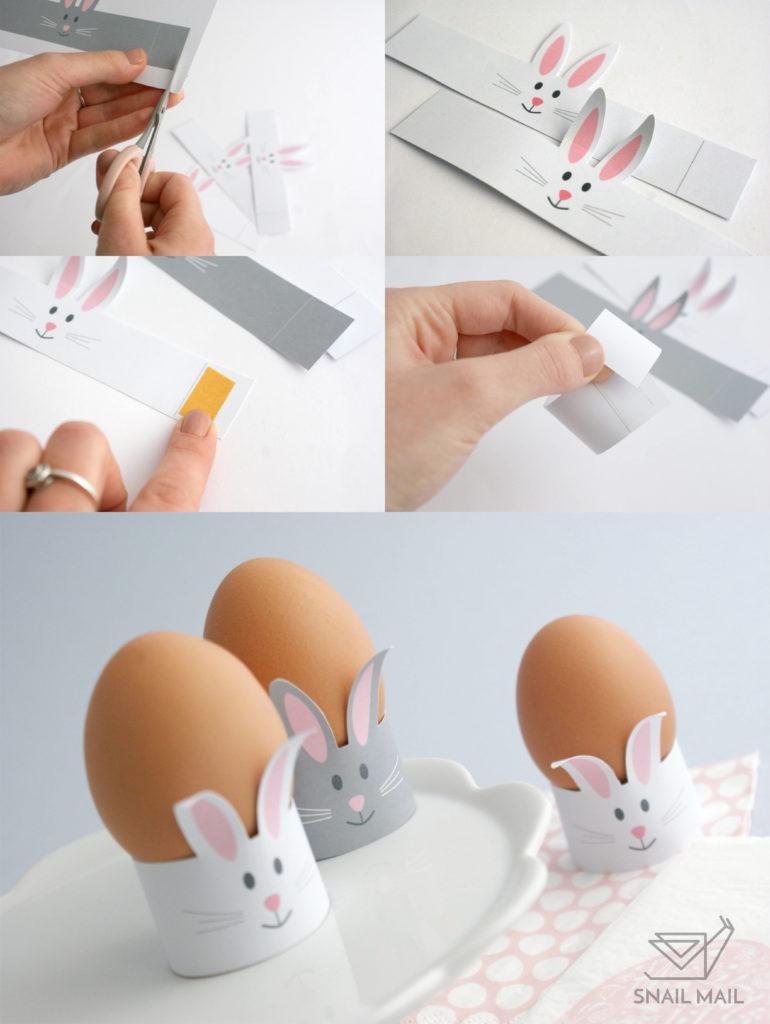 wielkanocne ozdoby jajko zajączek z papieru tutorial