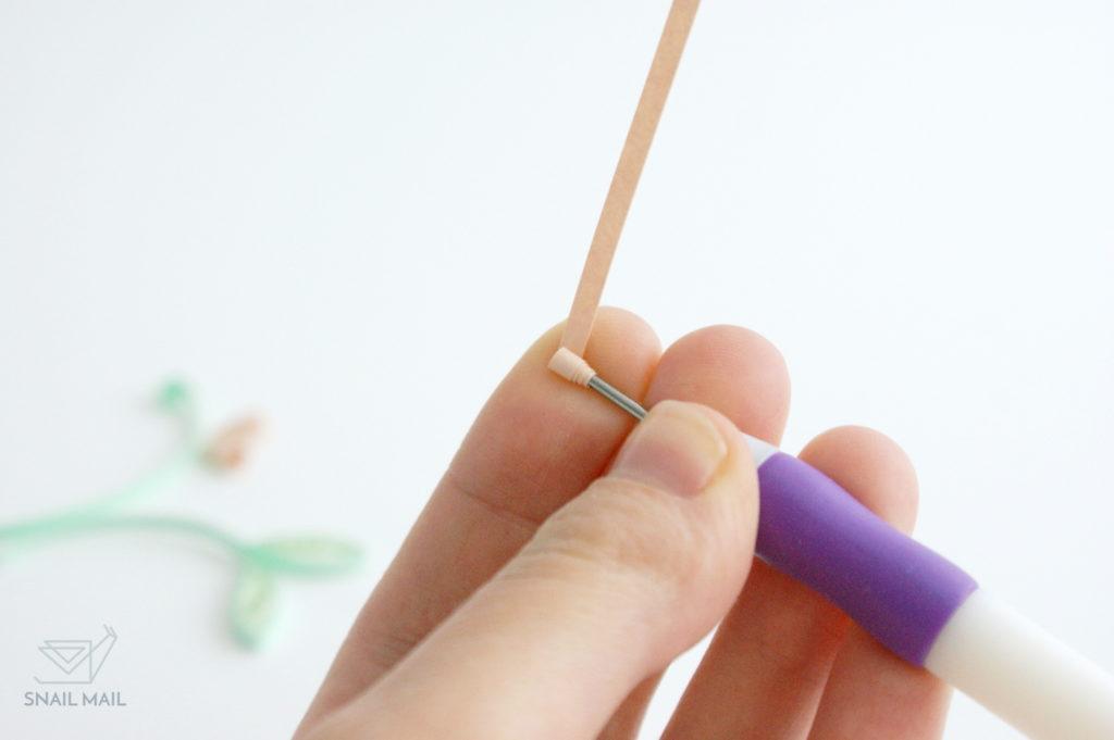 jak zrobić pączek quilling tutorial