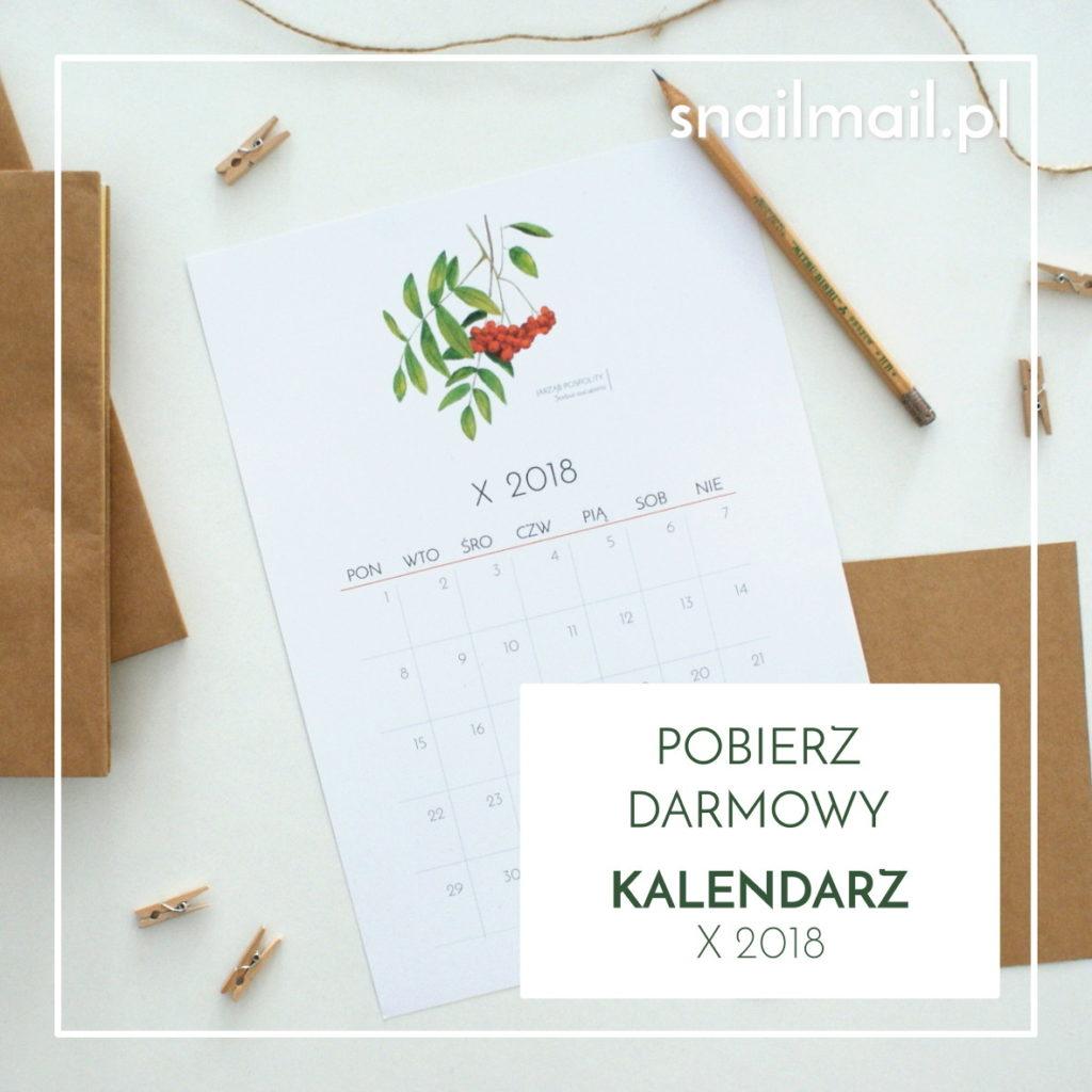 pobierz darmowy kalendarz akwarele 2018
