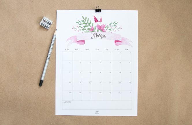 darmowy kalendarz marzec 2019